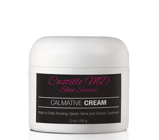Bottle of calmative cream by castillo md skin science