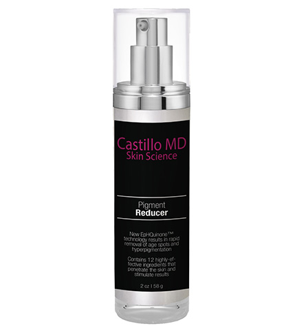 Bottle of Pigment Reducer by castillo MD skin science